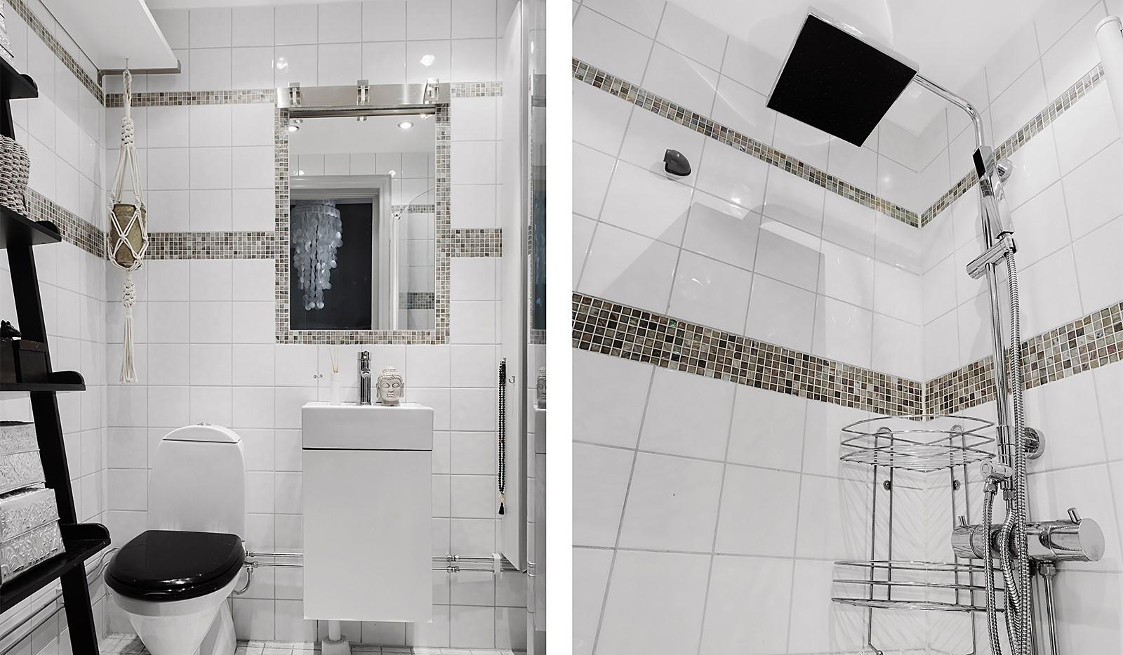 Bergsunds Strand 31, 5 tr, Accepterat pris - Helkaklat badrum med takdusch