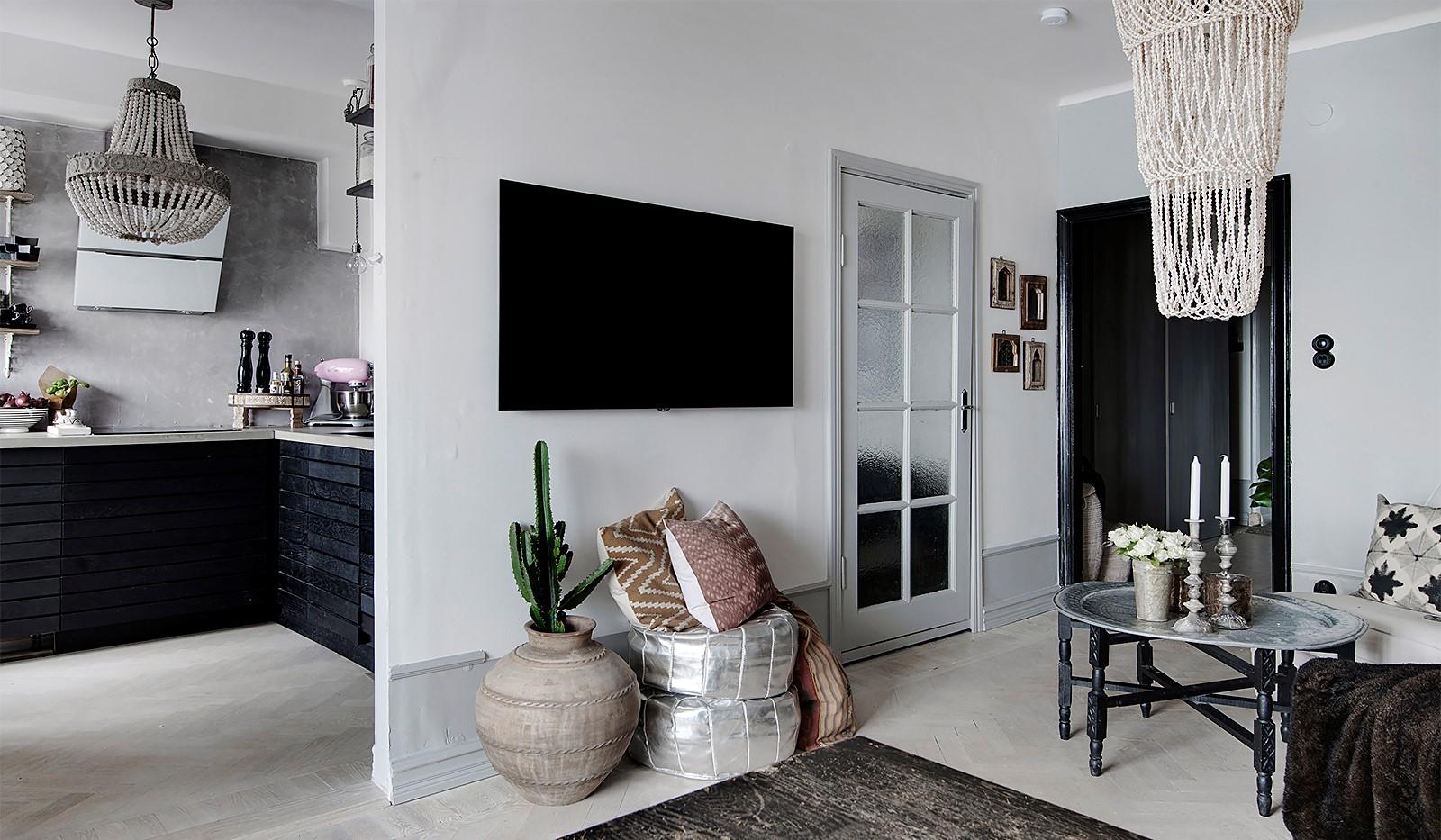 Bergsunds Strand 31, 5 tr, Accepterat pris - Öppen planlösning mellan kök och vardagsrum