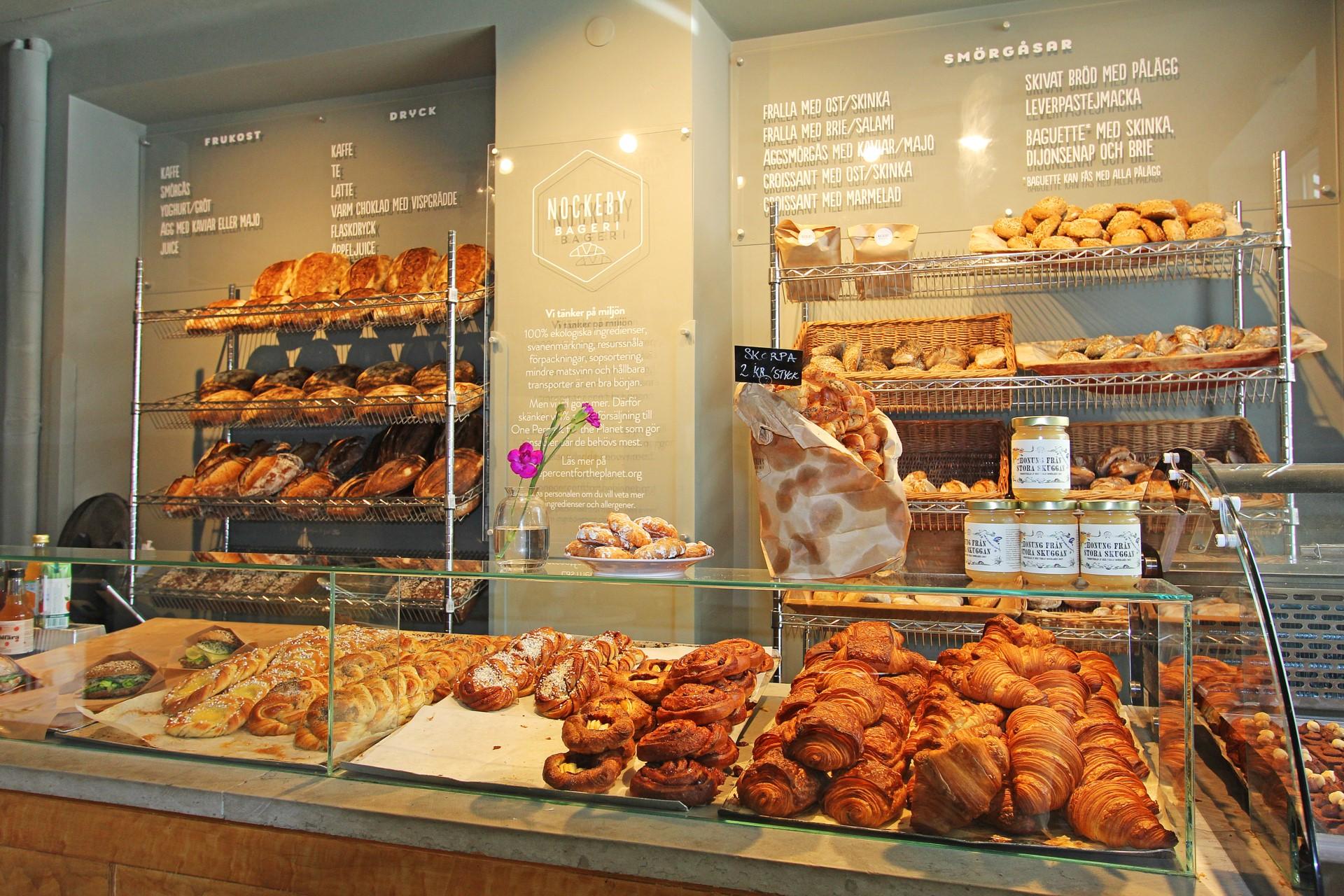 Mysigt fik och bageri på Nockeby Torg