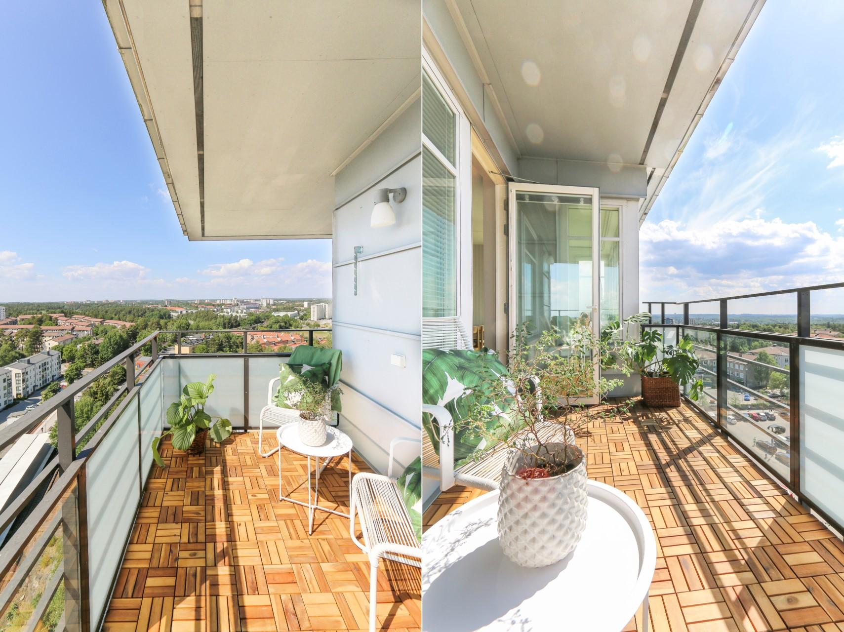 Läcker terrass med milsvid utsikt!