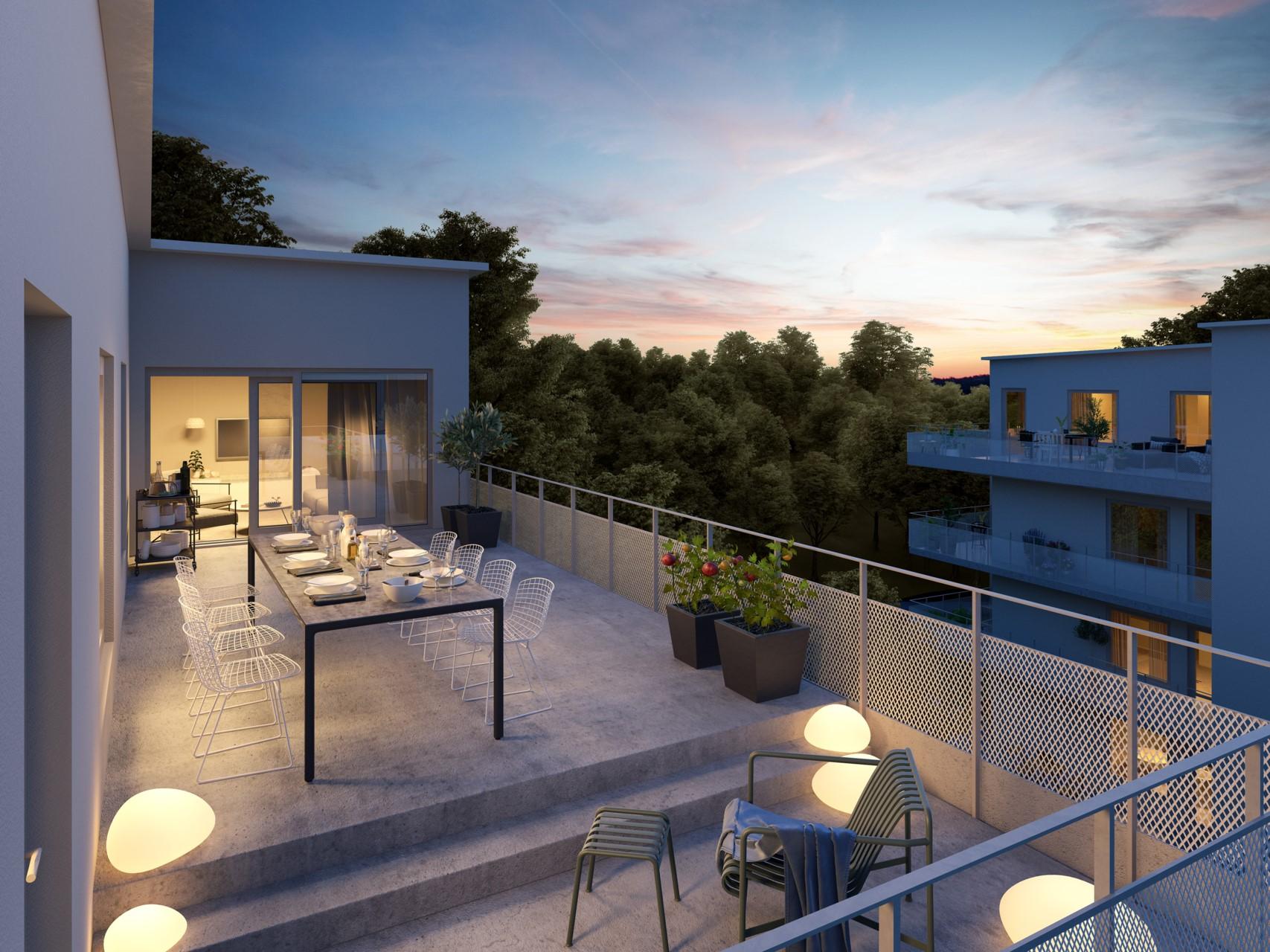 Ljuvlig terrass, animerad exempelbild