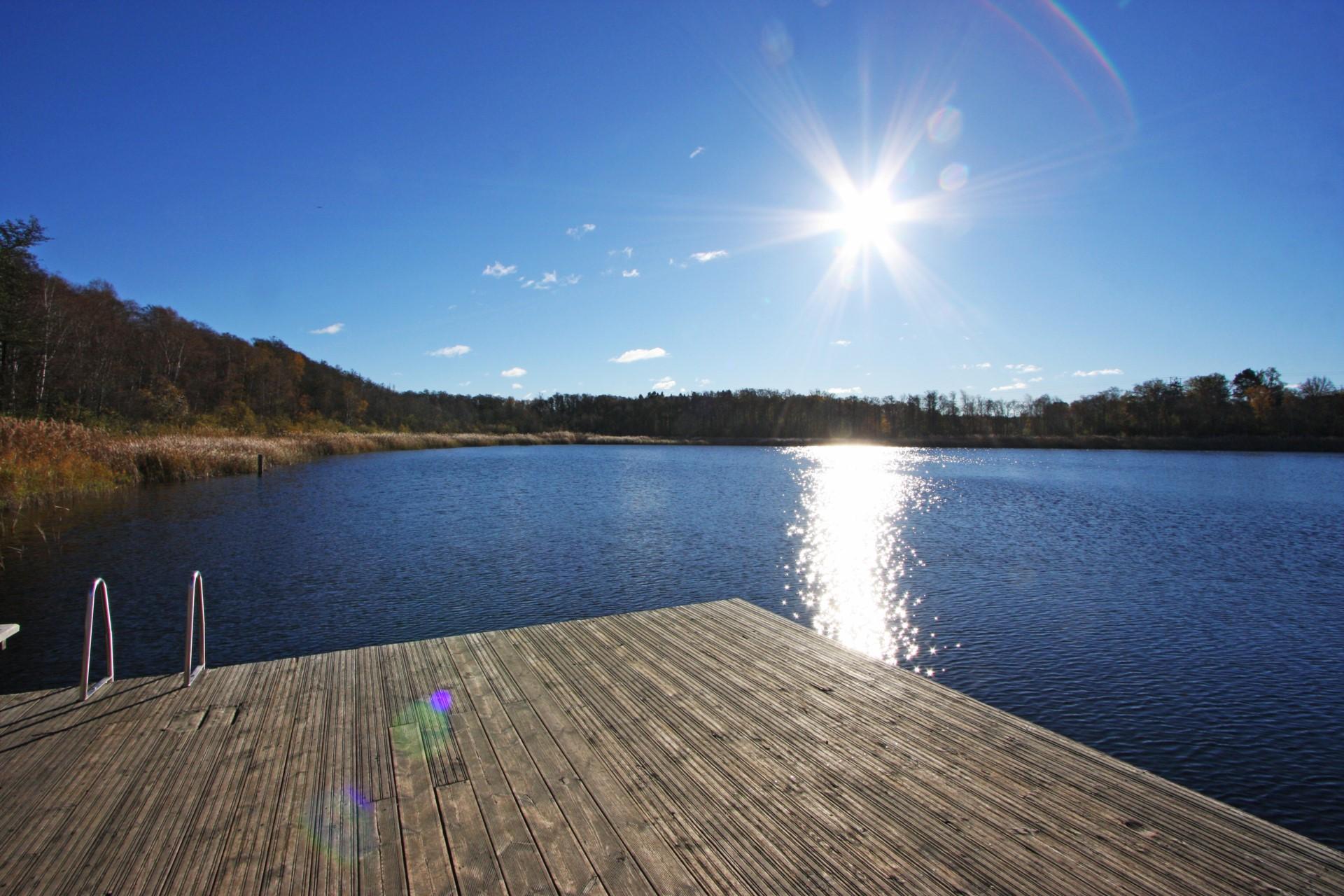 Bryggbad vid Kyrksjön