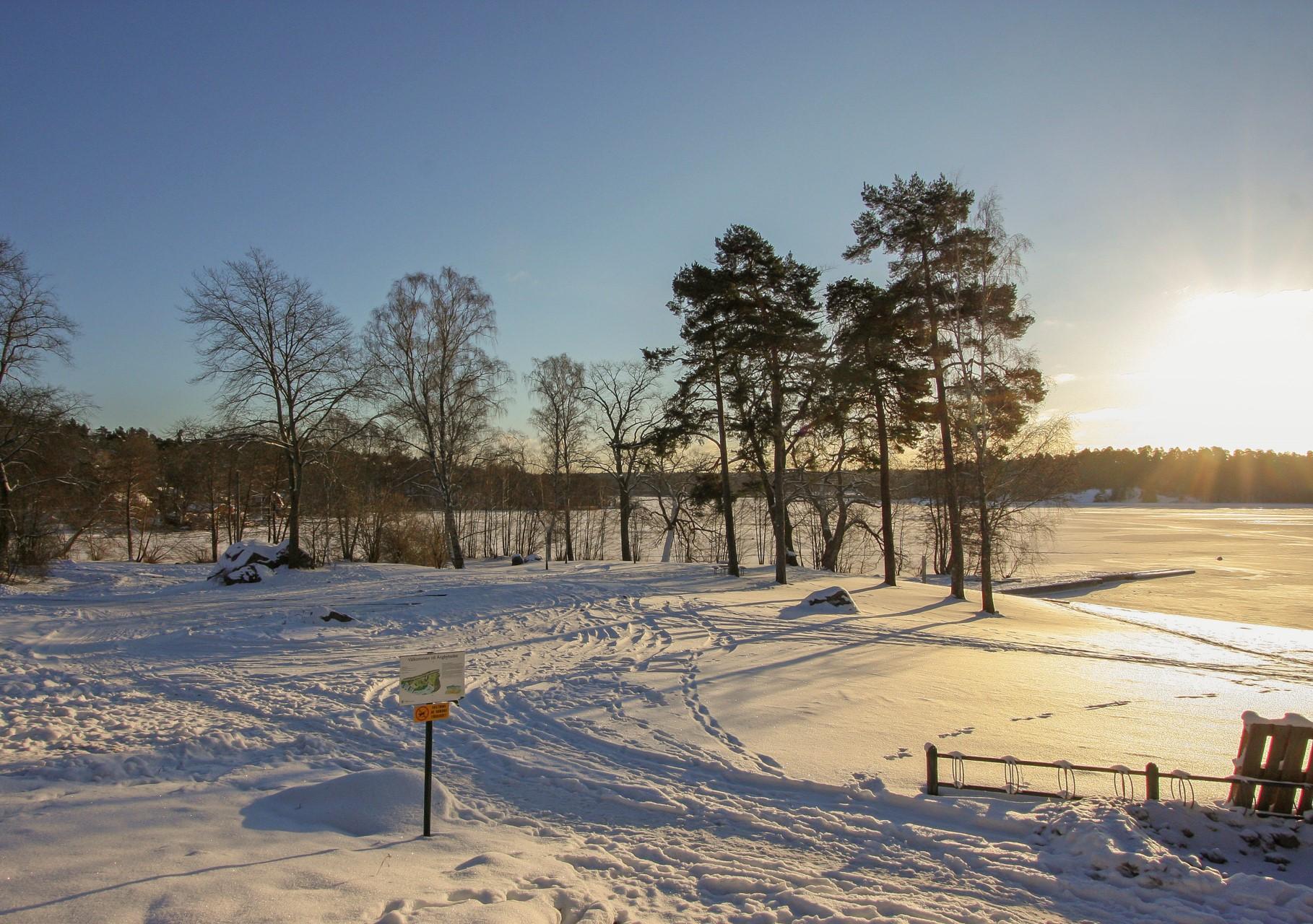 Ängbybadet vintertid