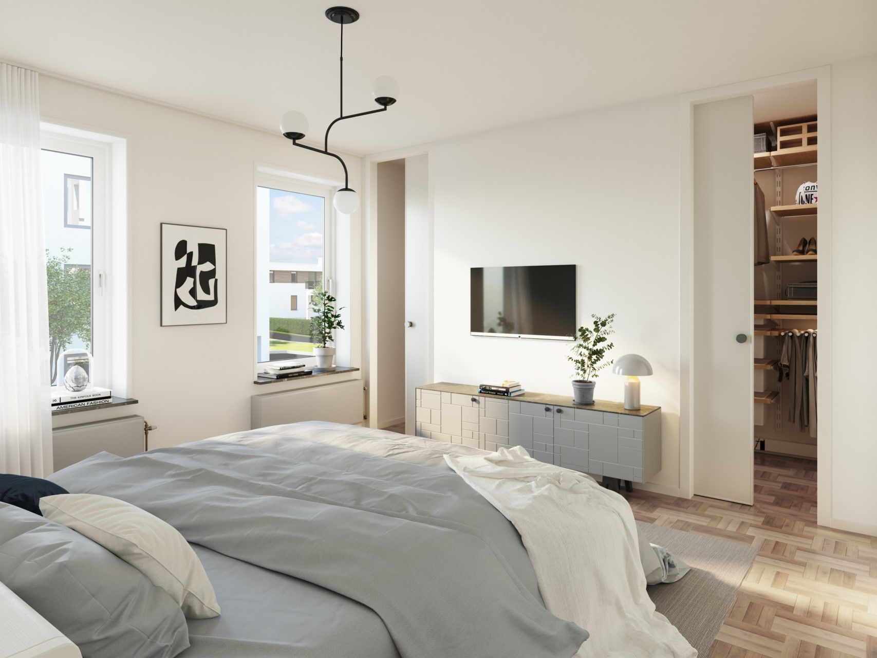 Sovrum, animerad exempelbild