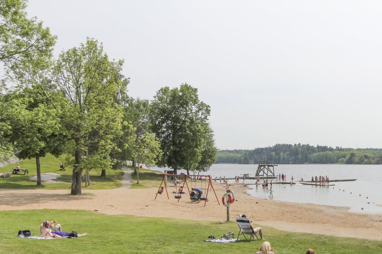 Ängbybadet med camping och restaurang