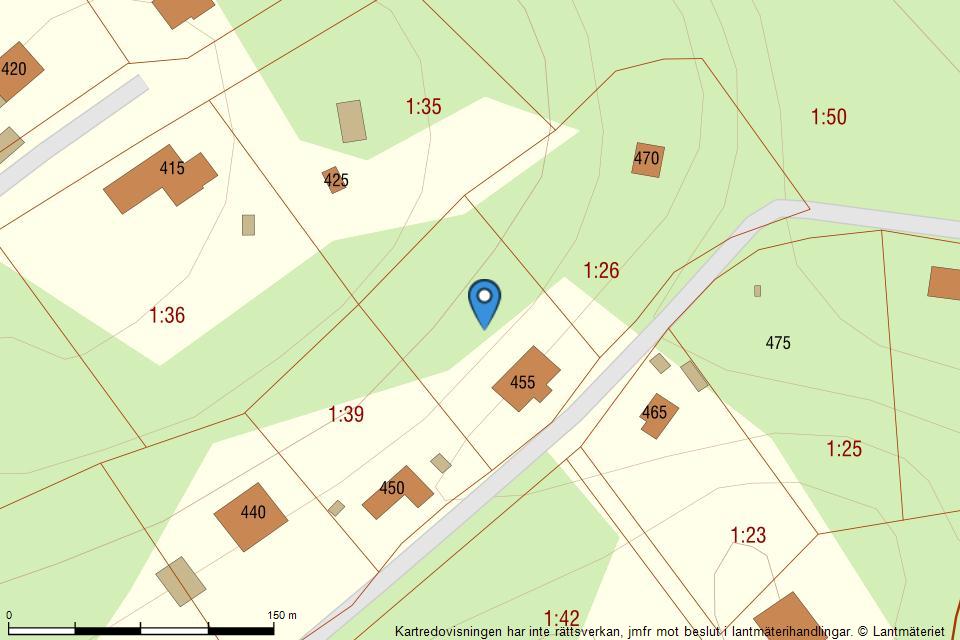 Hultasjövägen 455 - Fastighetskarta