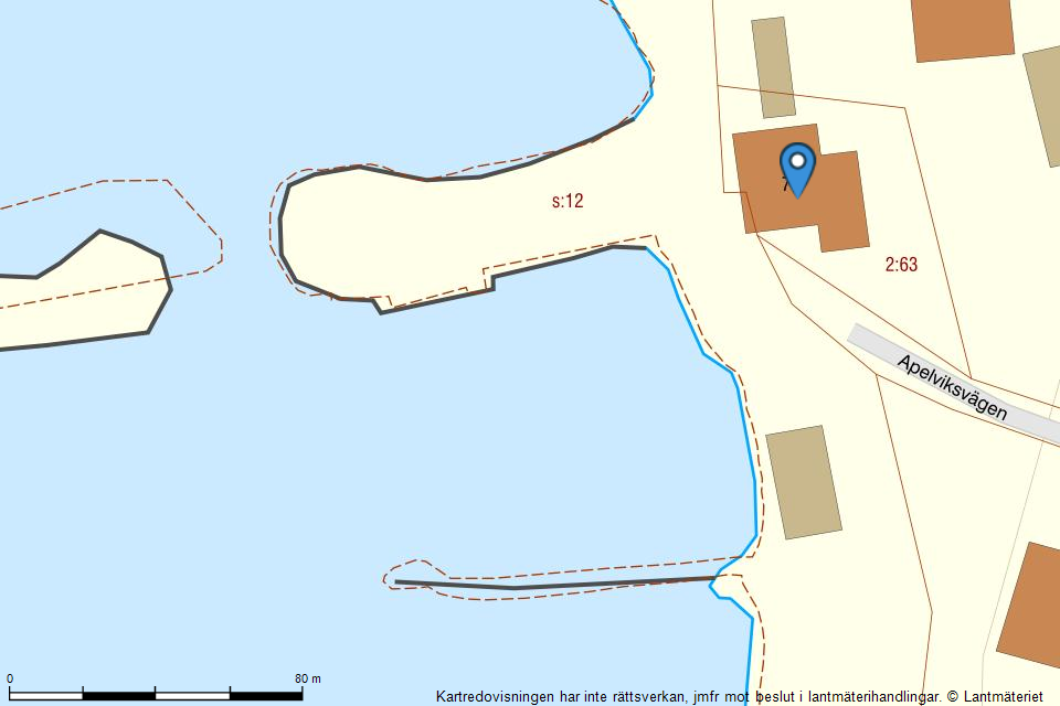 Apelviksvägen 76 - Fastighetskarta