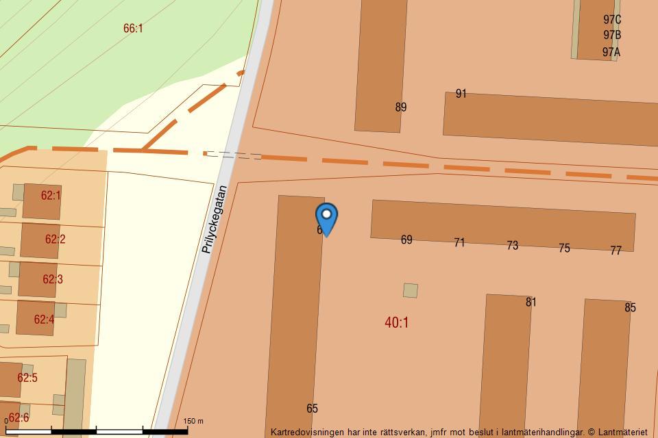 Prilyckegatan 67 - Fastighetskarta