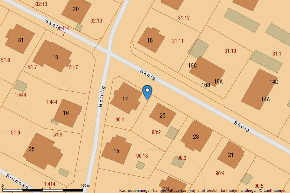 Hotellgatan  17 - Fastighetskarta