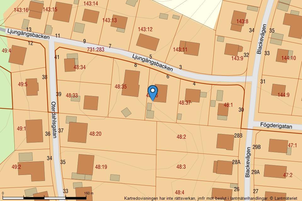 Ljungängsbacken 6 - Fastighetskarta