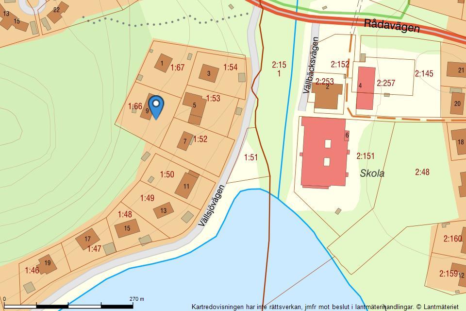 Vällsjövägen 9 - Fastighetskarta