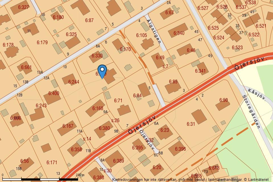 Älgstigen  8B - Fastighetskarta