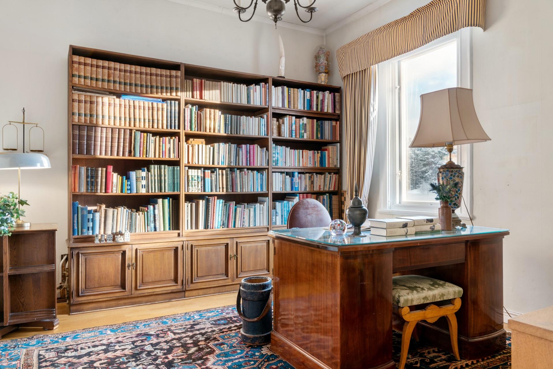 Bibliotek/sovrum
