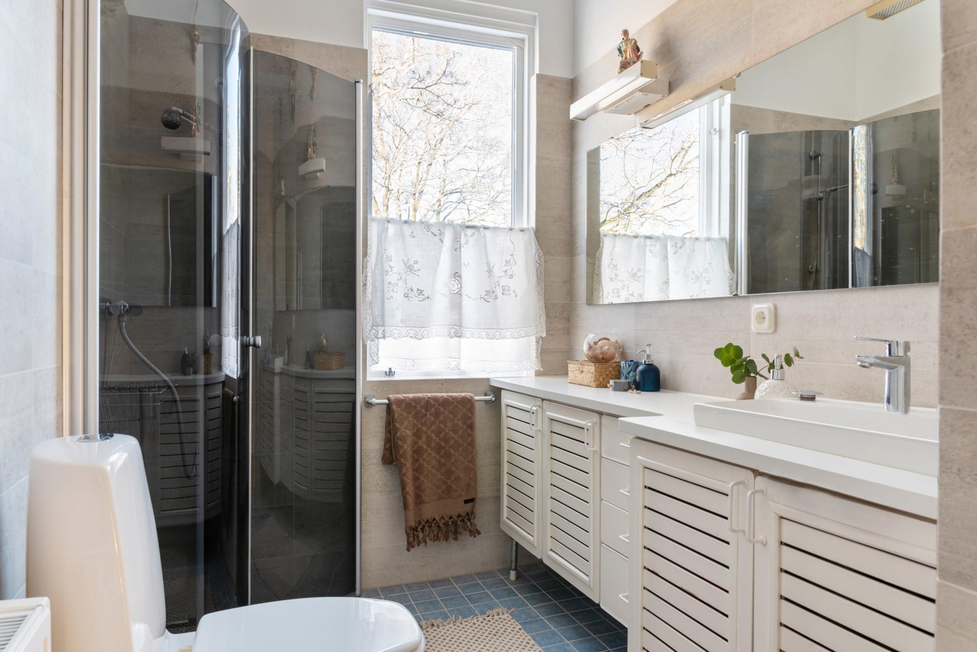 Renoverat badrum nedre plan