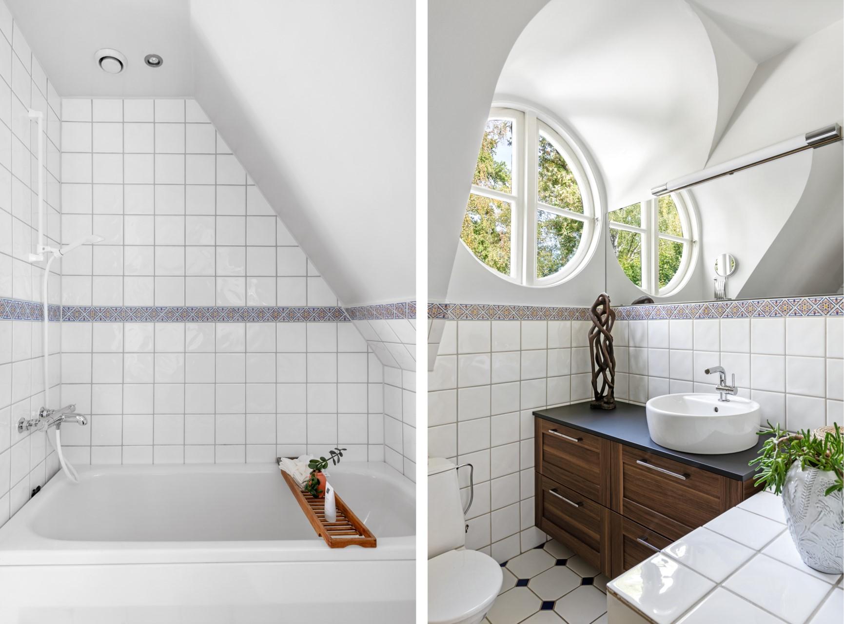 Detaljer badrum övre plan