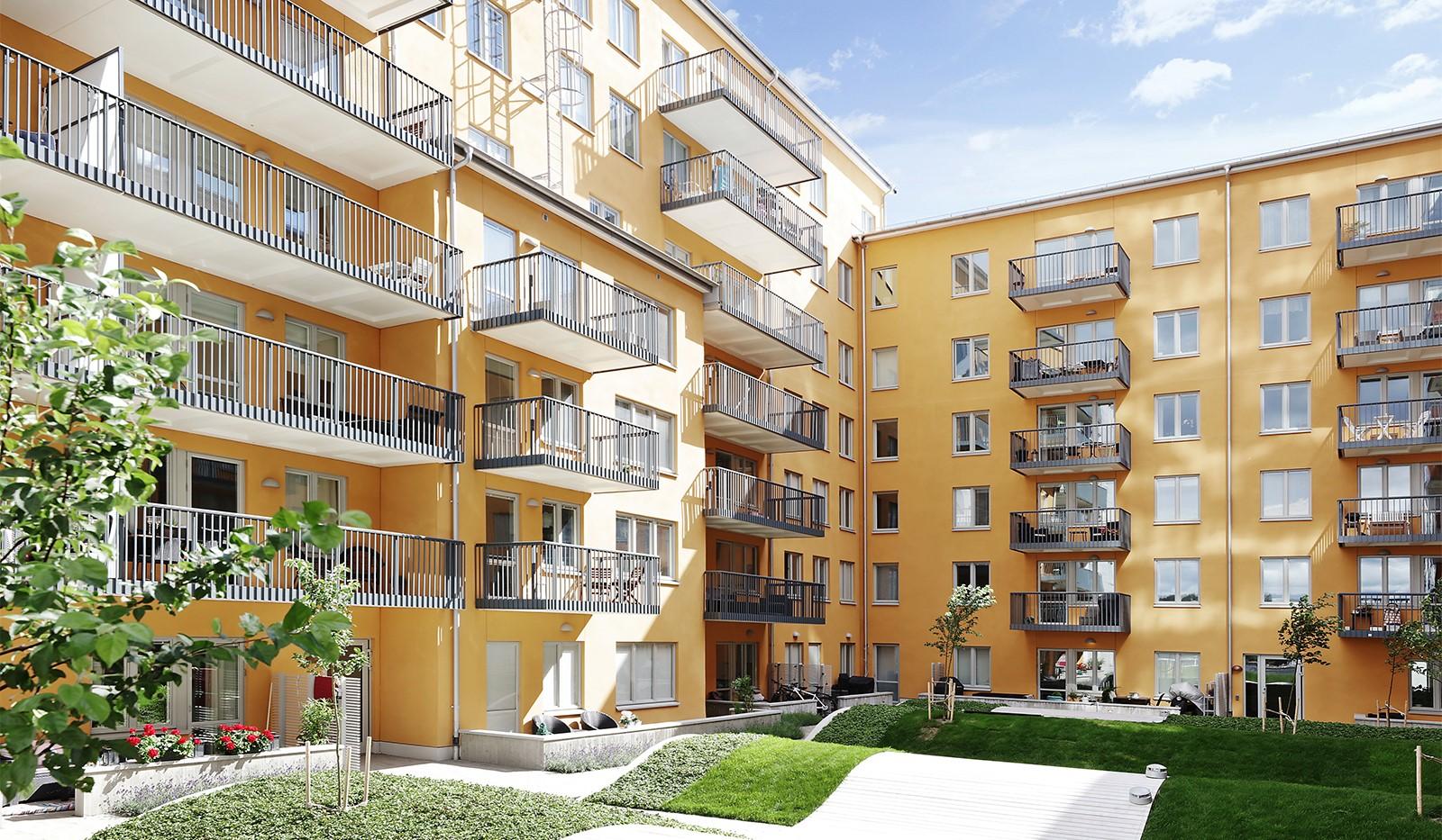 Ekfatsgatan 4, 6 tr - Innergården