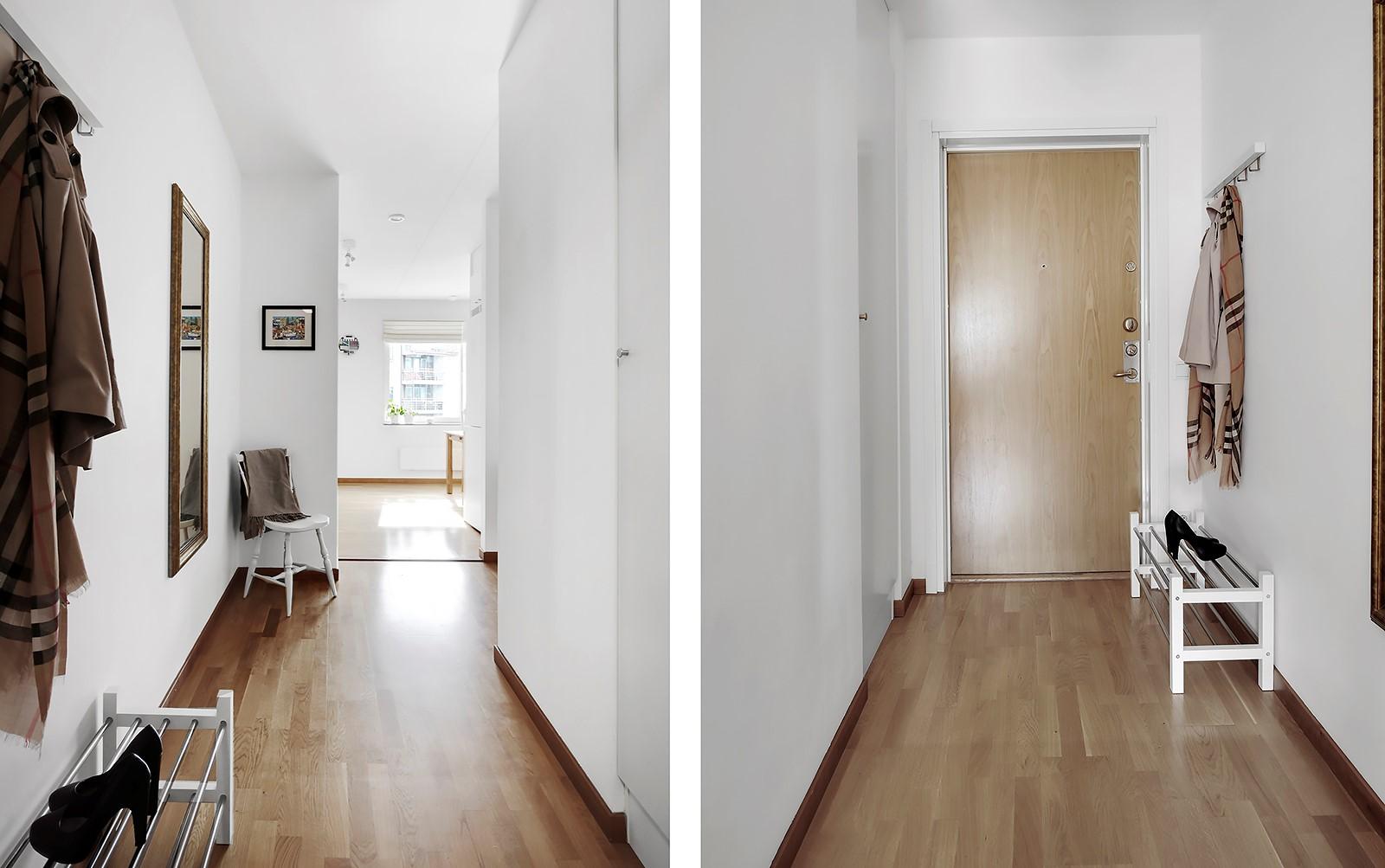 Hildebergsvägen 4, 3 tr - Hall med plats för avhängning och förvaring i garderob