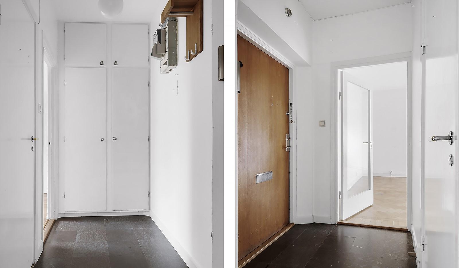 Wennerbergsgatan 6B, 5 tr - Hall med inbyggda garderober
