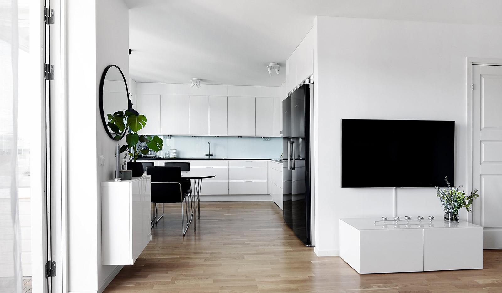 Ekfatsgatan 4, 4 tr - Delvis öppen planlösning mellan vardagsrum och kök