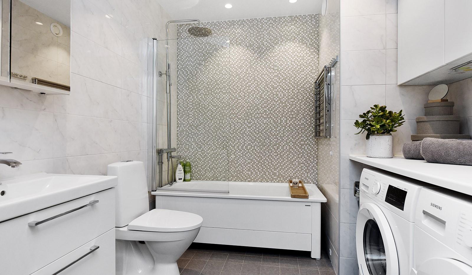 Ekfatsgatan 4, 4 tr - Toppmdernt badrum med stilrena materialval