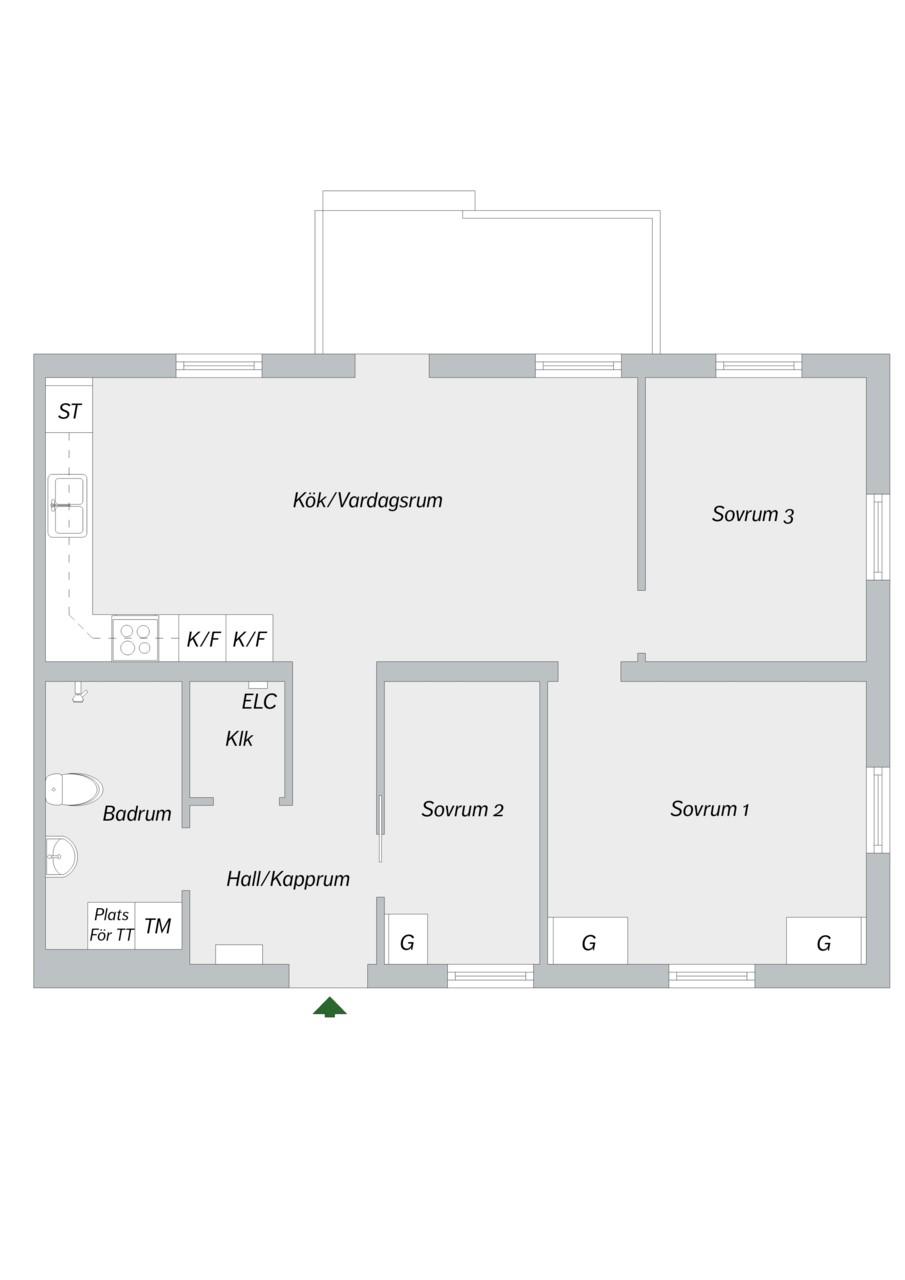 Runhällsgatan 21C - Planritning