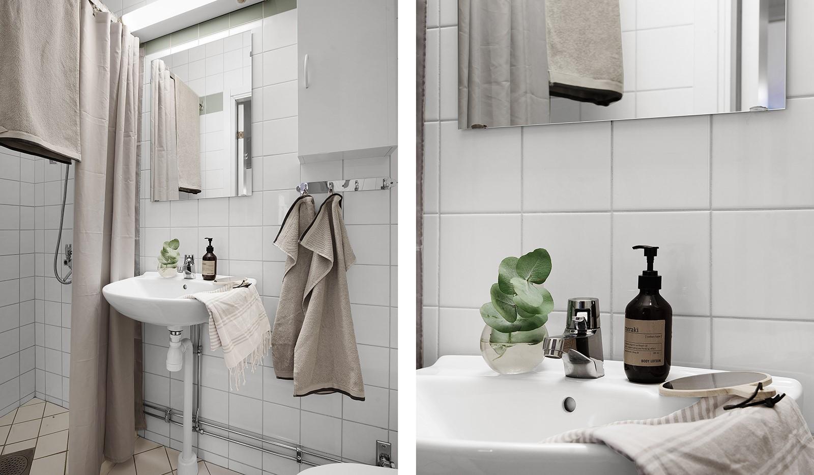 Fatburstrappan 12, 4 tr - Mindre badrum med dusch