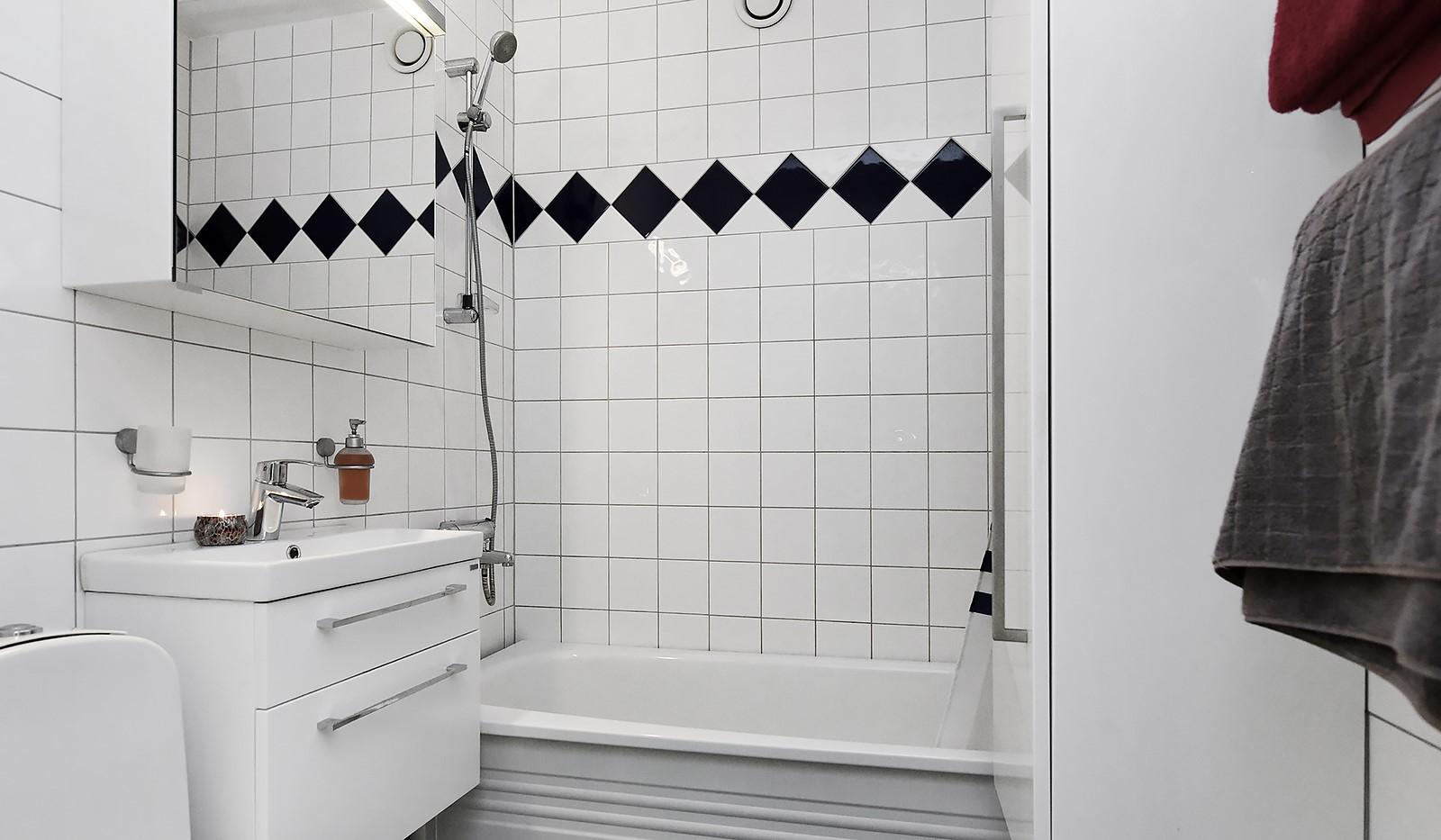 Sandfjärdsgatan 11, 2 tr - Stambytt helkaklat badrum