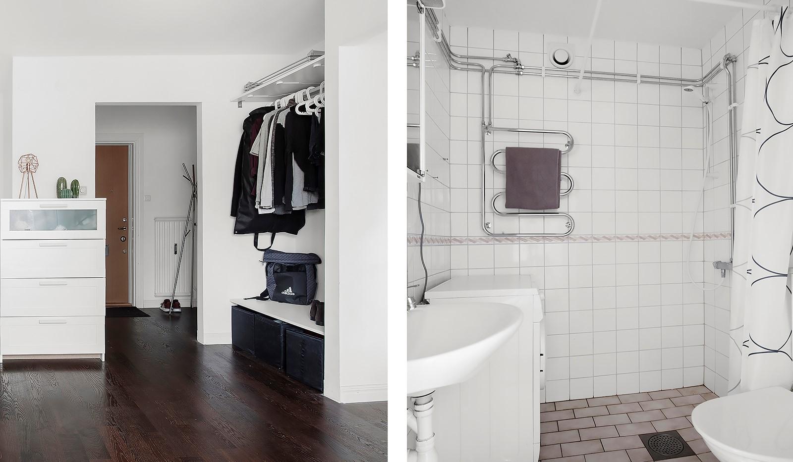 Tallstigen 4, 2tr - Hall och badrum med tvättmaskin