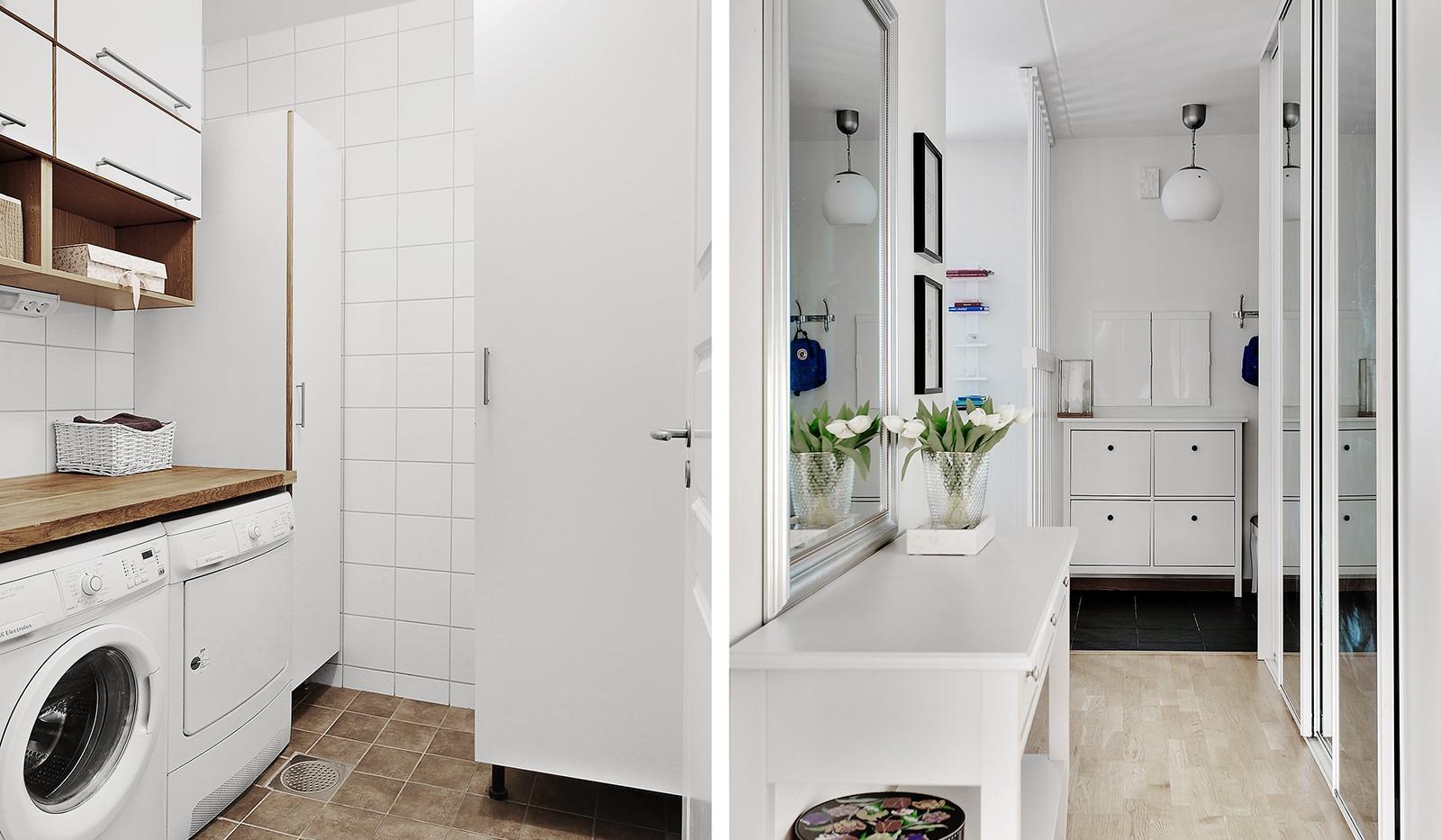 Konvojgatan 1, vån 6 - I lägenheten finns en separat tvättstuga och i hallen en praktisk skjutdörrsgarderob