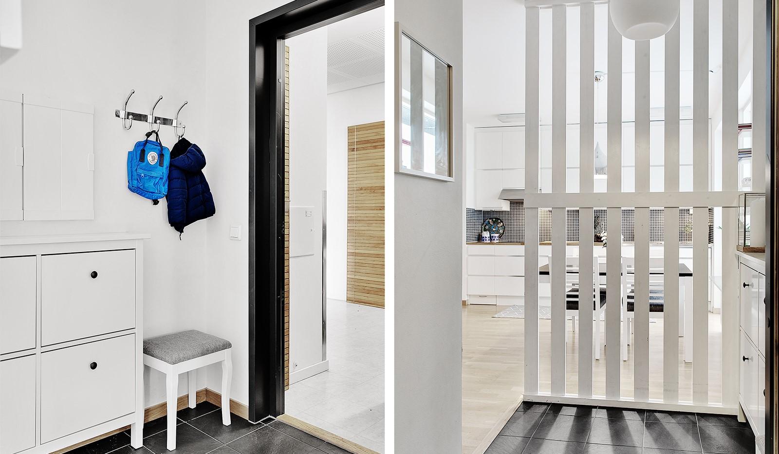 Konvojgatan 1, vån 6 - Välkomnande hall som öppnar upp lägenheten på ett trevligt sätt