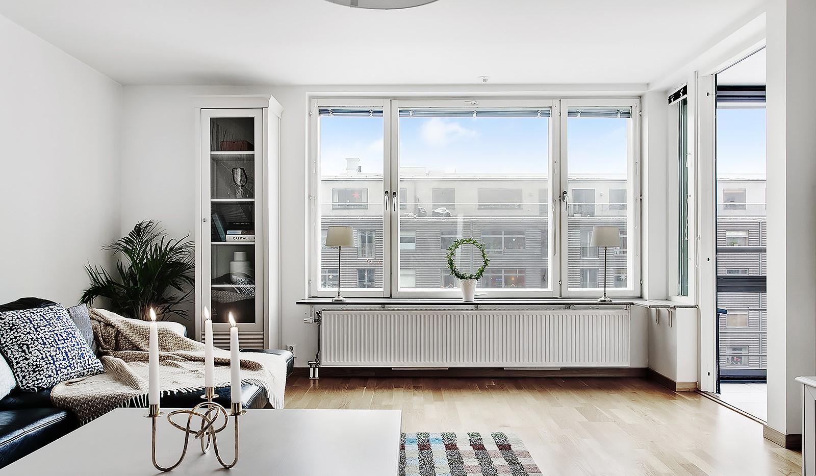 Konvojgatan 1, vån 6 - Från vardagsrummet når man bostadens andra balkong