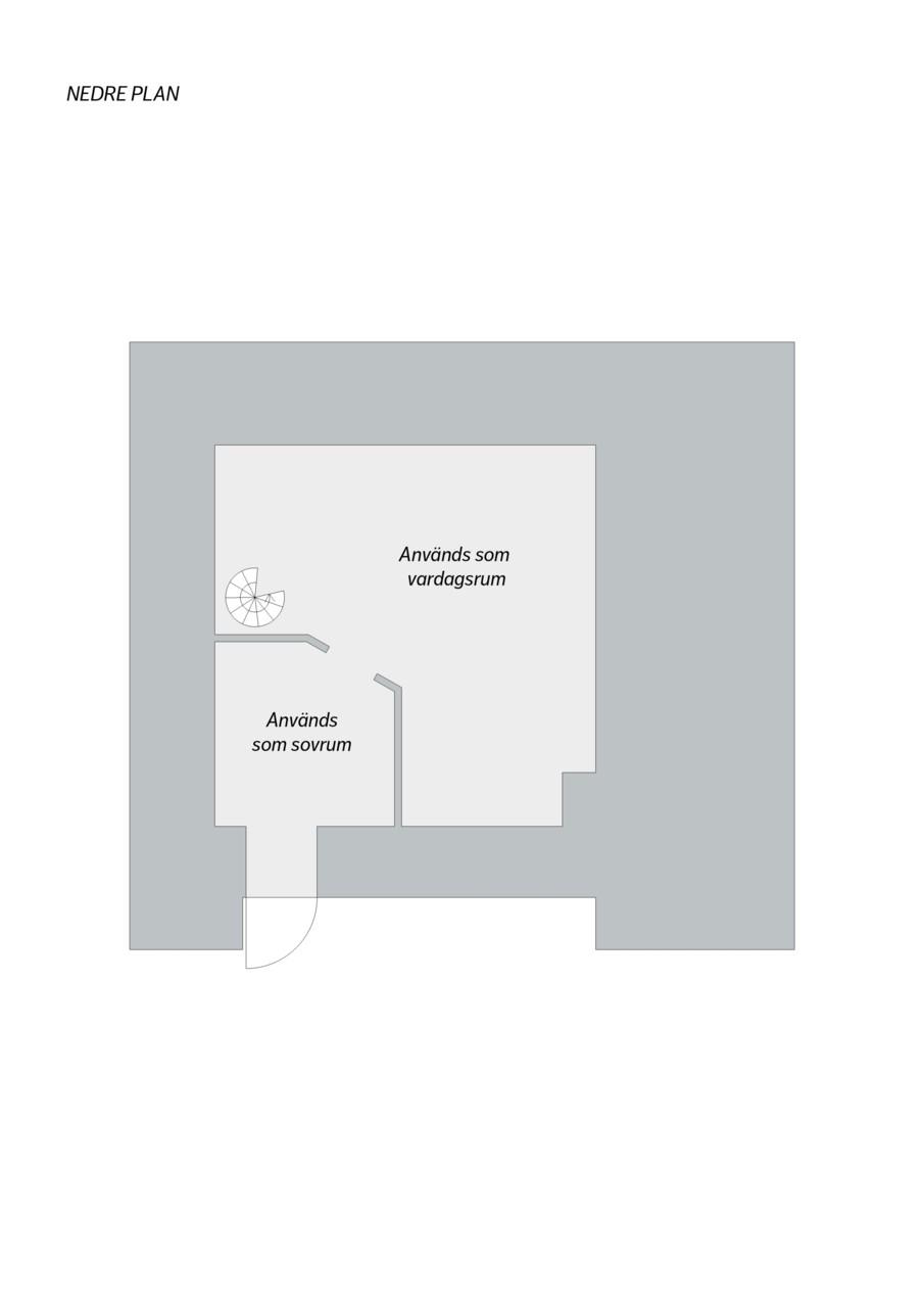 Mäster Mikaels Gata 1A - Planlösning källarplan