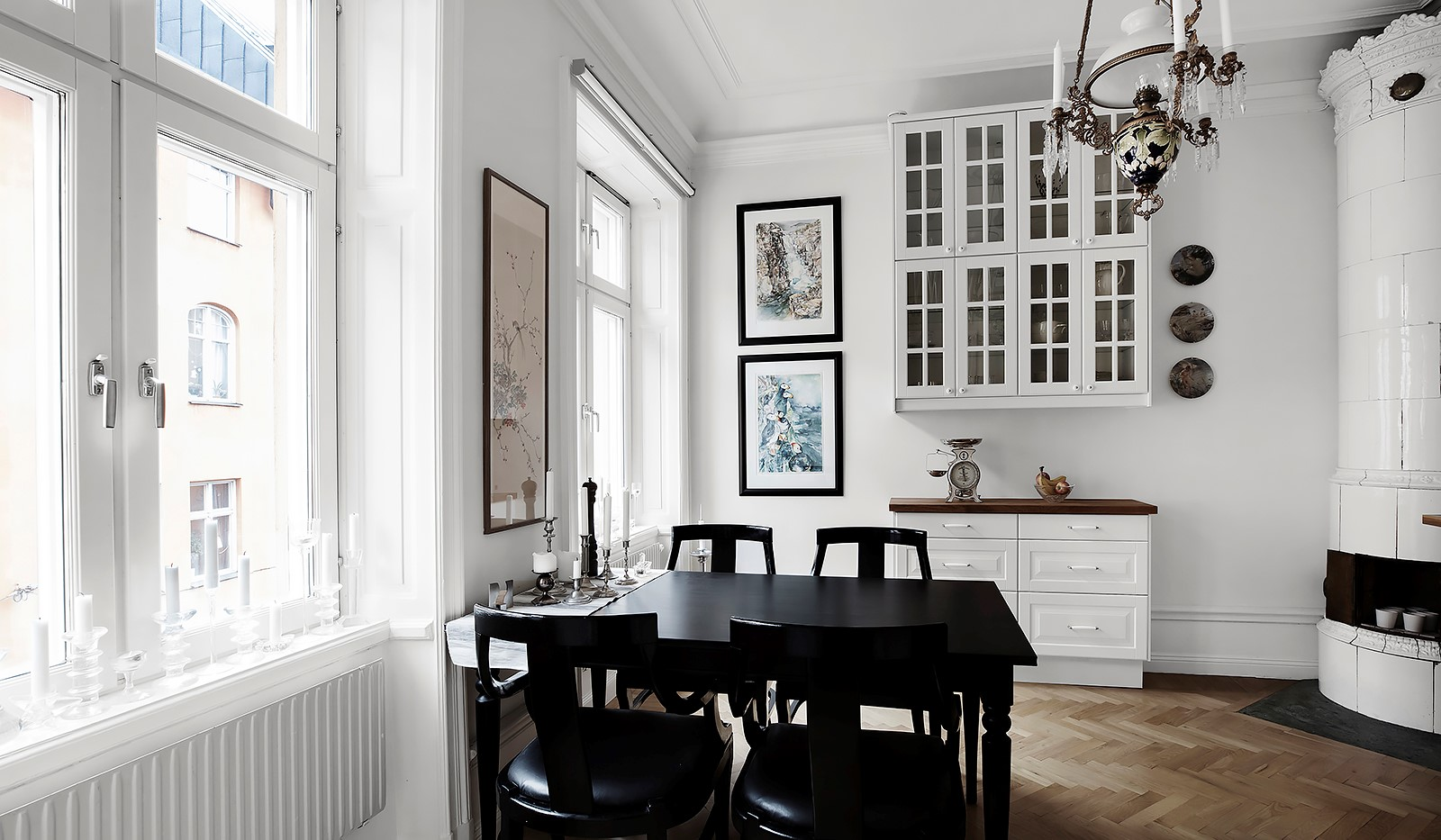 Götgatan 26 - Kök med fönster mot Götgatan