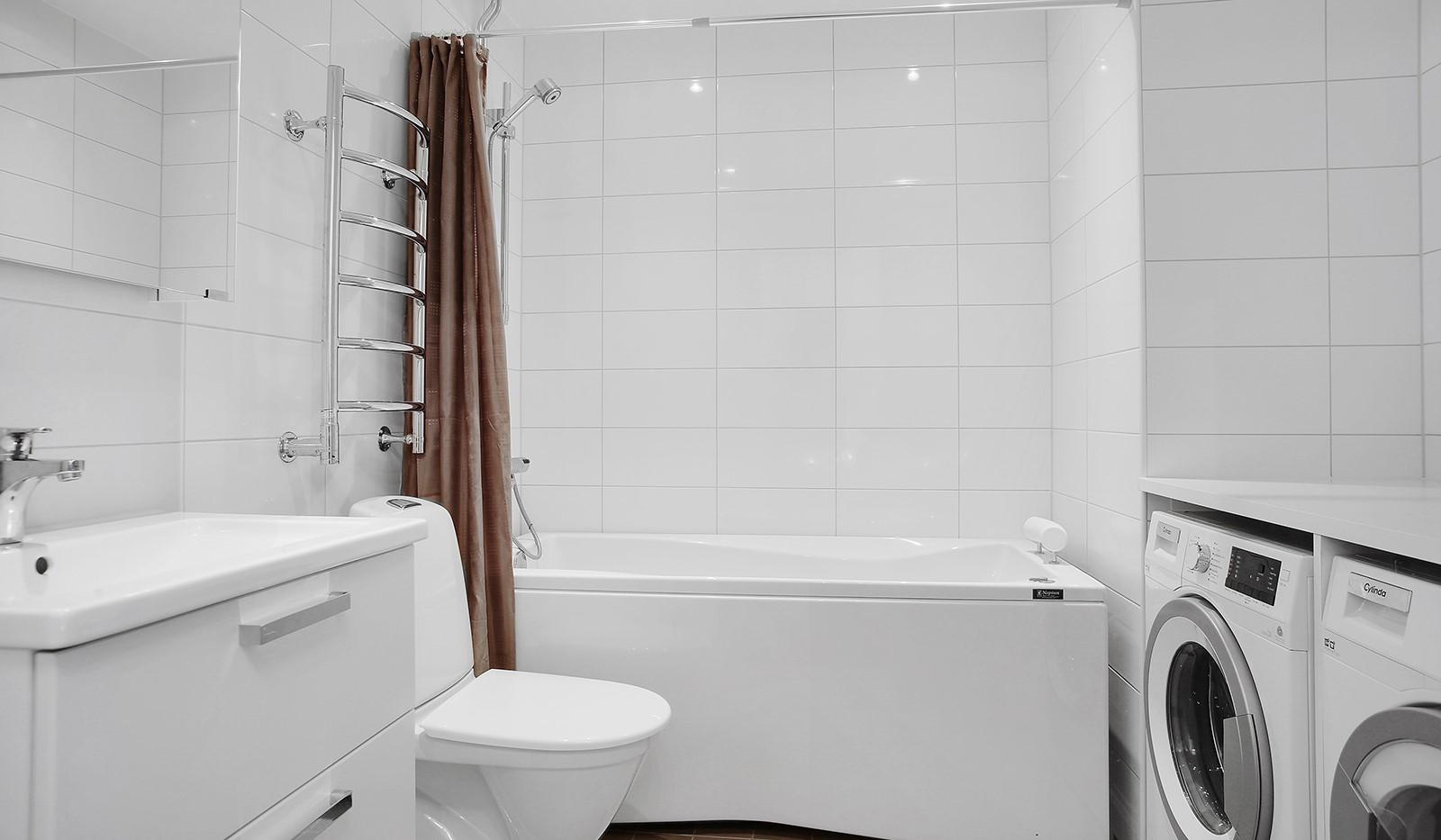 Adventsvägen 3 - Badrum med tvätt