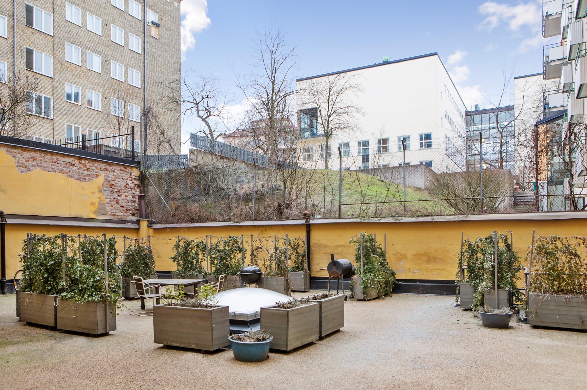 Hornsgatan 89, 2tr ÖG - Föreningens innergård