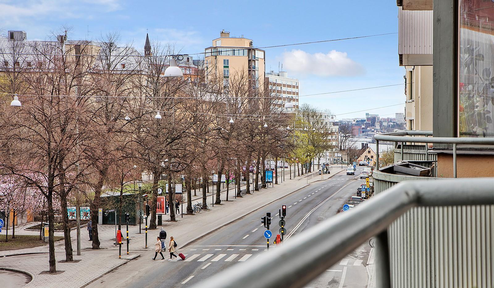 Folkungagatan 114 - Utsikt mot Saltsjön och Finnboda