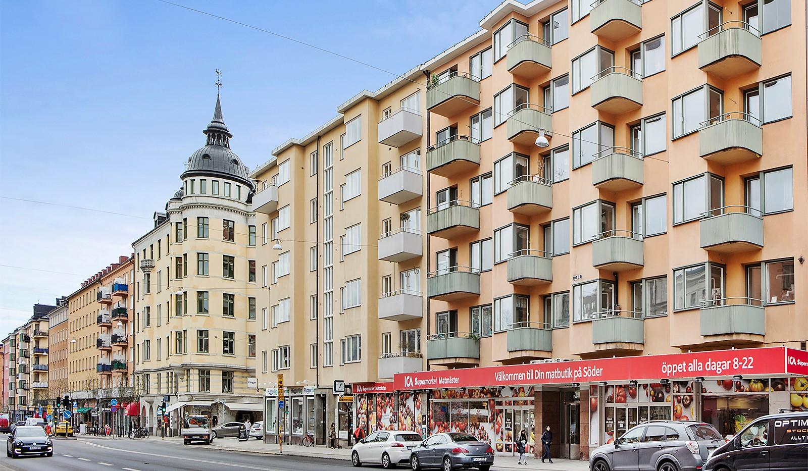 Folkungagatan 114 - Fasaden mot Folkungagatan