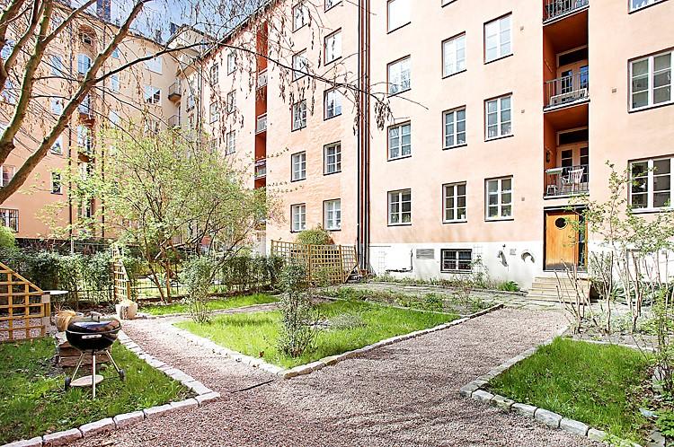Krukmakargatan 27, 1tr - Mysig innergård