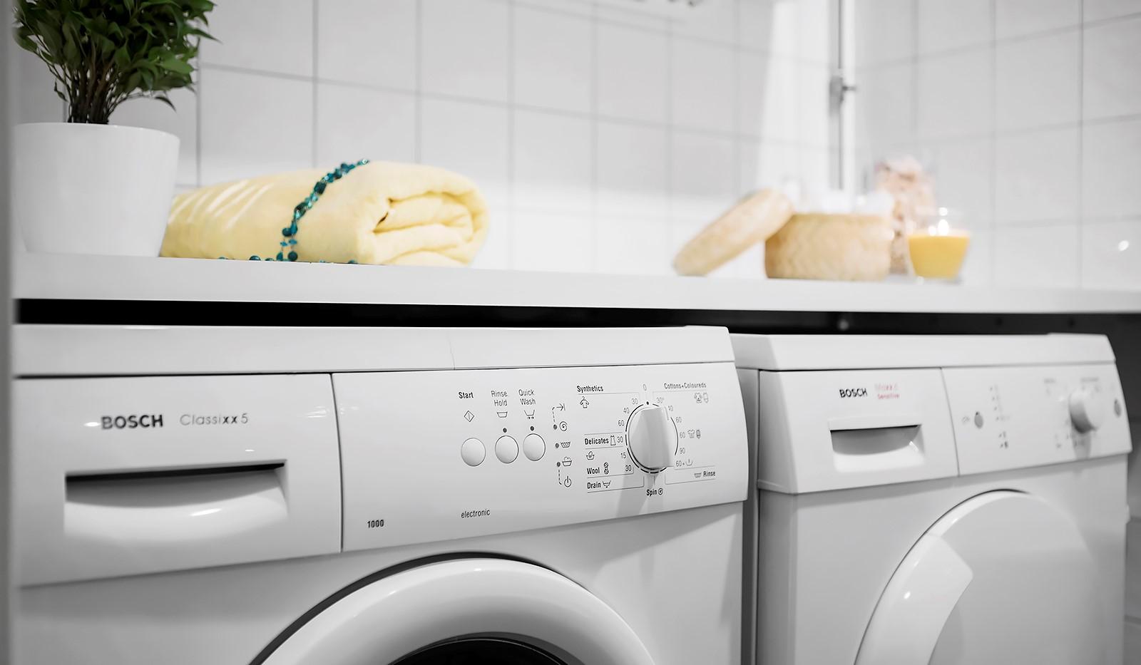 Vingårdsgatan 8, 3tr - Tvättmaskin och torktumlare i badrummet