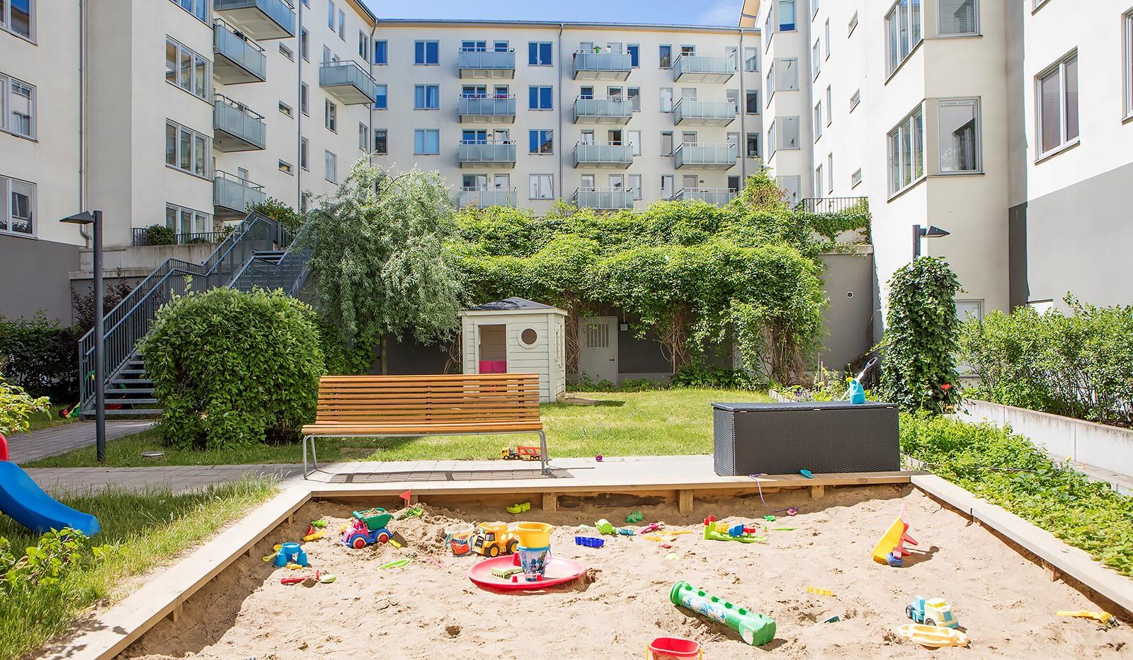 Vingårdsgatan 8, 3tr - Barnvänlig innergård