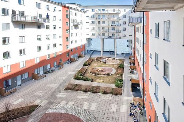 Vingårdsgatan 5, 3 tr - Inhägnad innergård