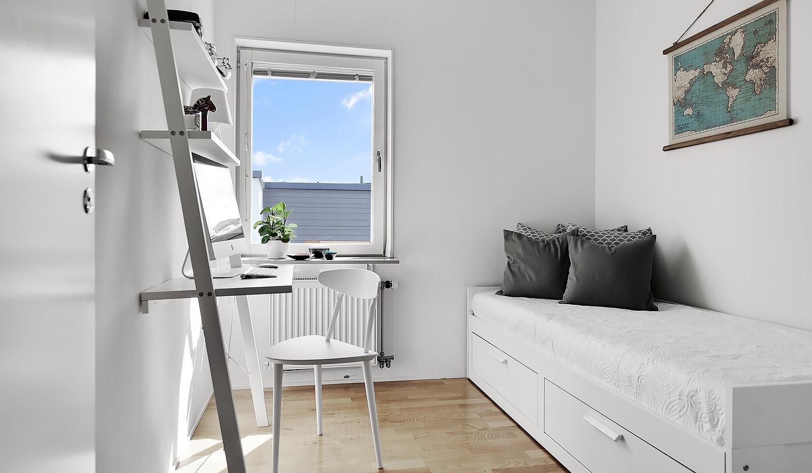 Vingårdsgatan 46, 6/6 tr - Sovrum 2 passar utmärkt som barnrum eller kontor