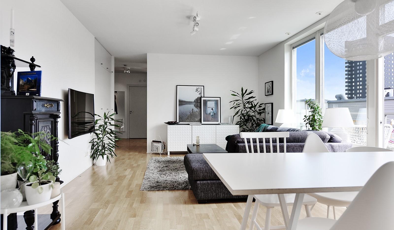 Vingårdsgatan 46, 6/6 tr - Social planlösning mellan vardagsrum och kök