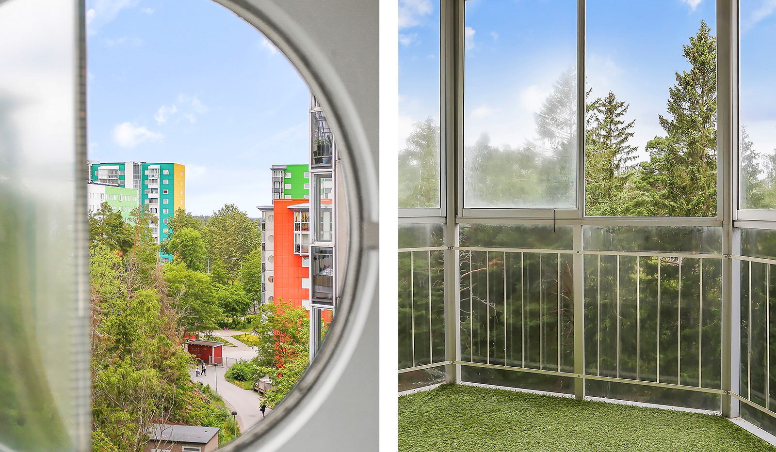 Terapivägen 18B, 7tr - Inglasad balkong med fin utsikt