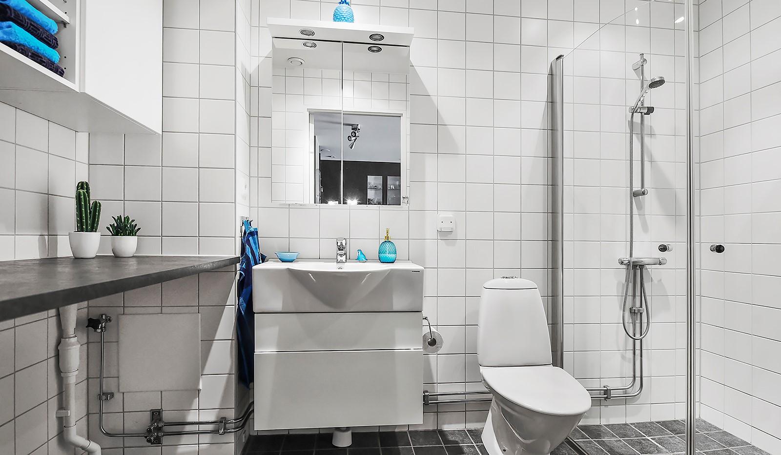 Hildebergsvägen 8, 5 tr - Fint helkaklat badrum