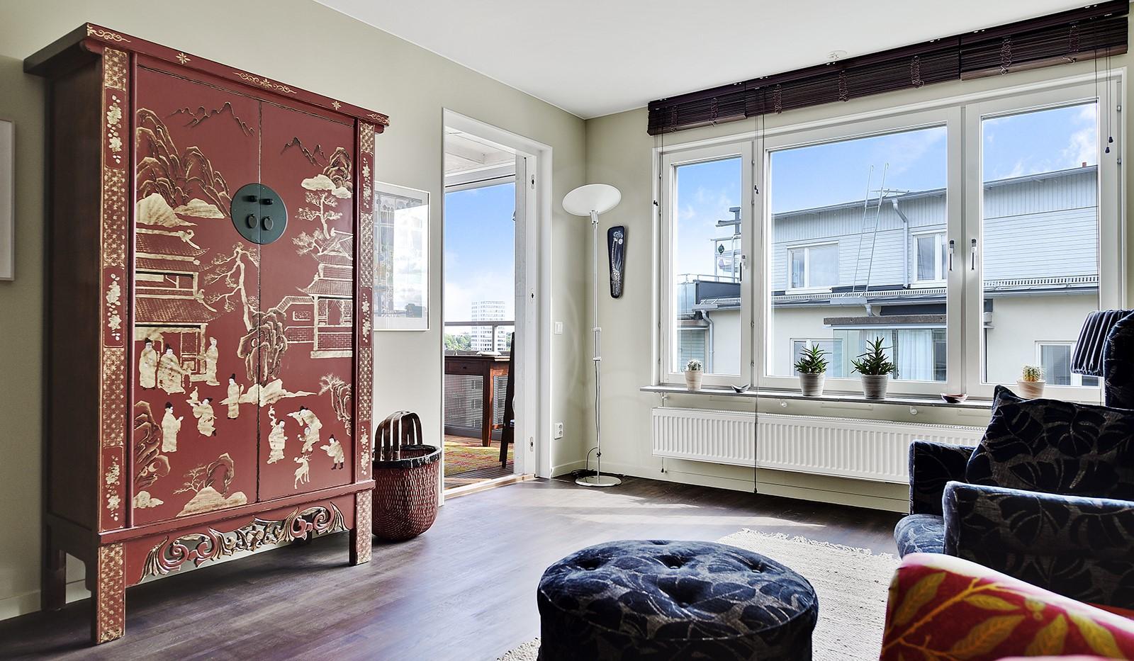 Hildebergsvägen 8, 5 tr - Stora fönsterpartier ger bra ljusinsläpp