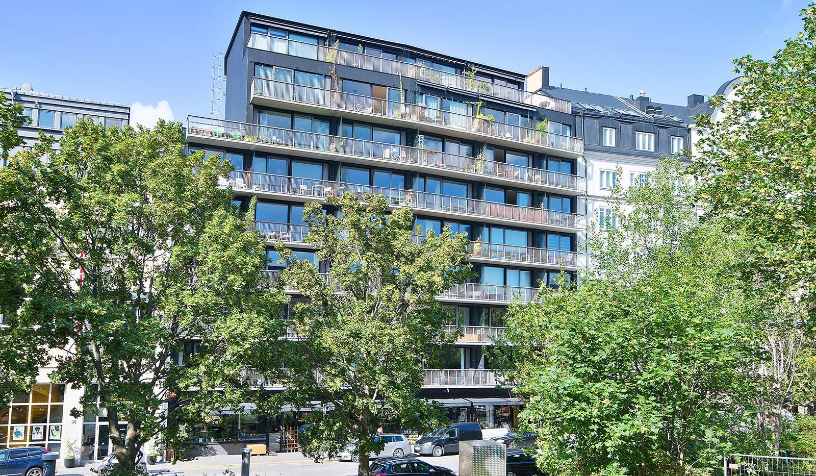 Liljeholmsvägen 12, 6tr - Fasad med snygg design