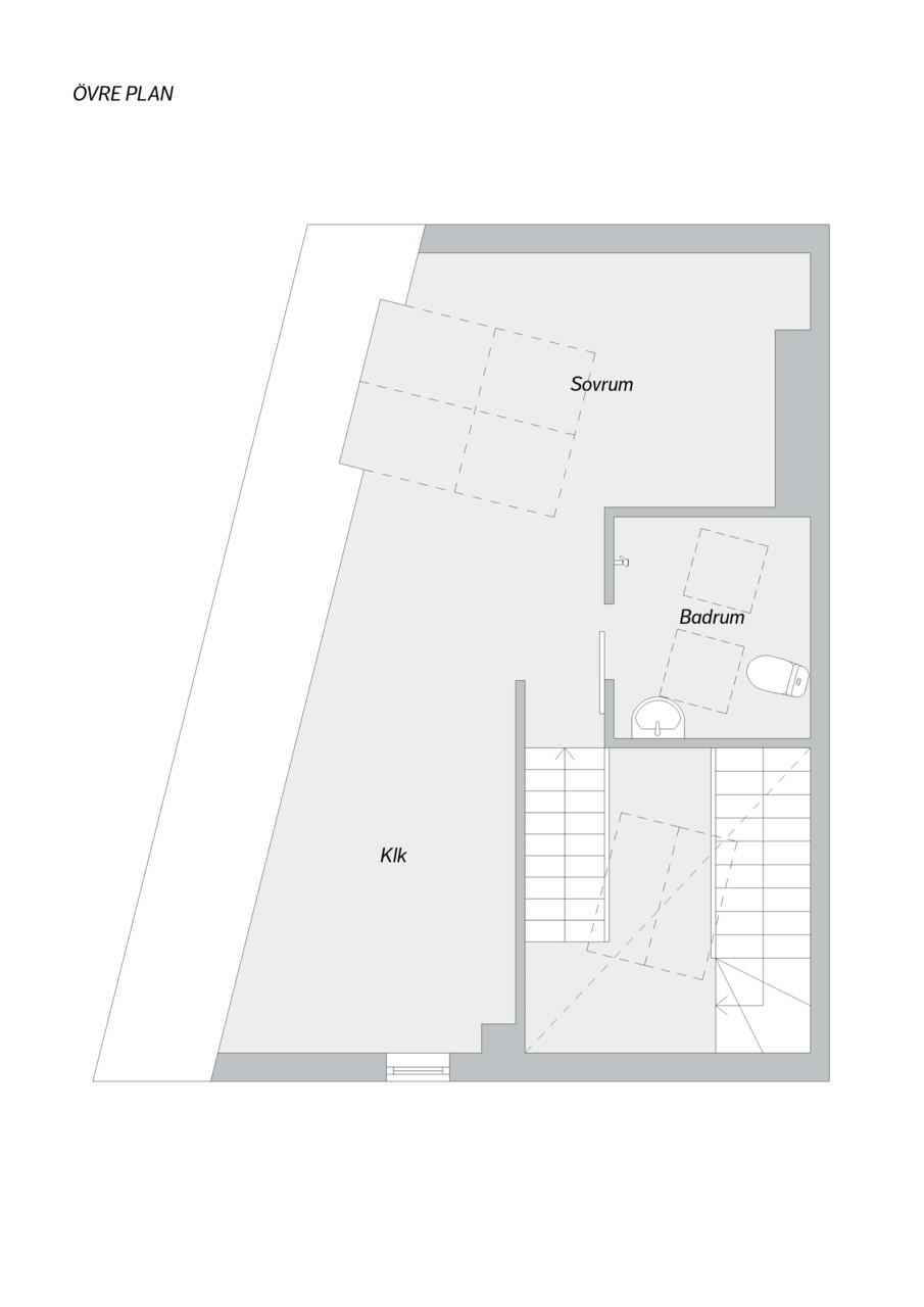 Olof Skötkonungs Väg 15A - Planlösning vindsplan