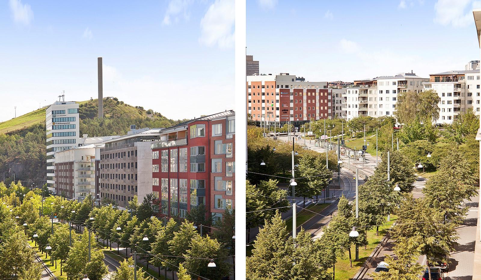 Hammarby Allé 119, 5 tr - Från matplatsen erbjuds utsikt över såväl Hammarbybacken som Lumaparken