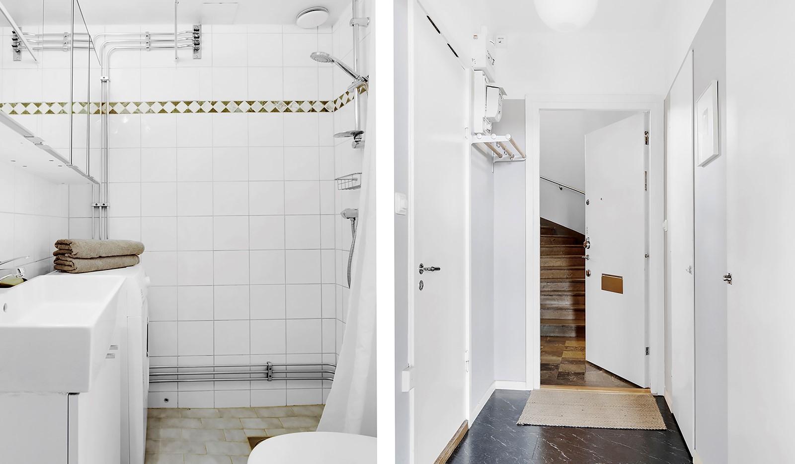 Heleneborgsgatan 20 - Badrum med tvättmaskin